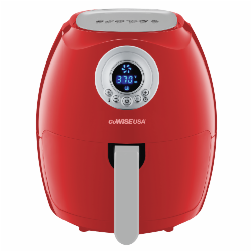 GoWISE USA 3.7-Quart Digital Air Fryer, Red Perspective: front