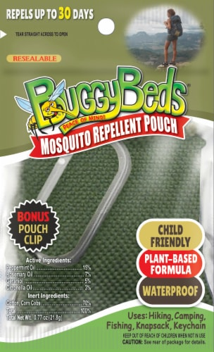 BuggyBeds Mosquito Repellent Pouch Perspective: front