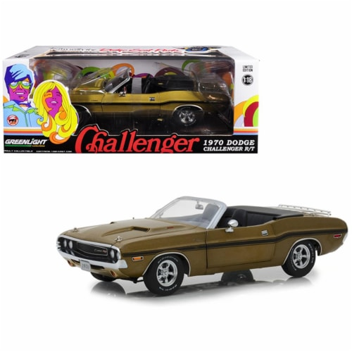 Greenlight 13527 1 by 18 Scale Diecast Model Car for 1970 Dodge Challenger R-T Convertible wi Perspective: front