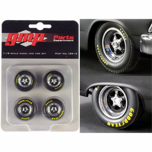 Pro Star 5-Spoke Drag Wheels & Tires Set of 4 pieces from\Pork Chop\'s 1966 Ford Fairlane\ Perspective: front
