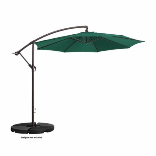 Villacera 83-OUT5412 10 ft. Offset Outdoor Patio Umbrella with 8 Steel Ribs & Aluminum Pole & Perspective: front