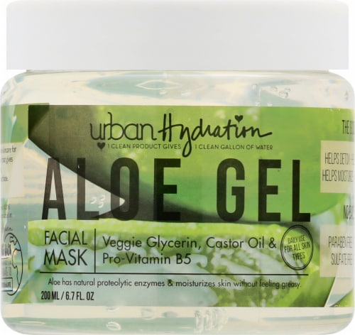 Urban Hydration Bright & Balance Aloe Gel Facial Mask Perspective: front