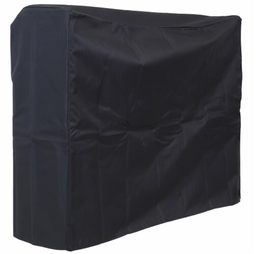 Sunnydaze Cover for Log Rack Waterproof Black Polyester with PVC Backing - 4' Perspective: front