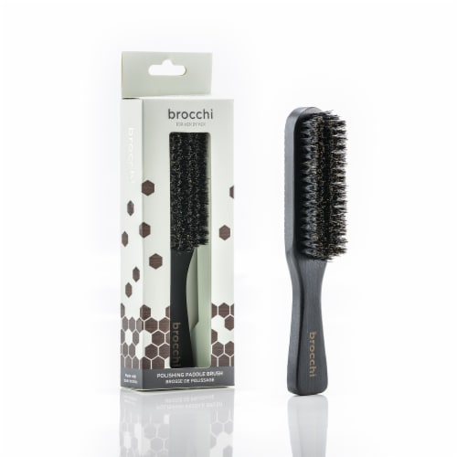 Brocchi  Boar Bristle Polishing Paddle Brush Perspective: front