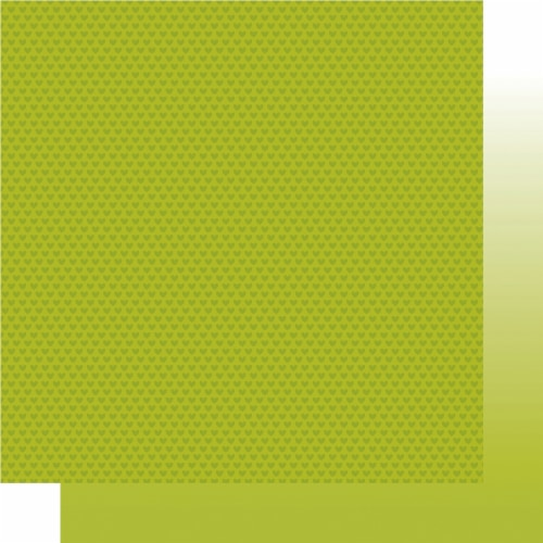 Bella Besties Hearts/Ombre Double-Sided Cardstock 12 X12 -Pickle Juice Perspective: front