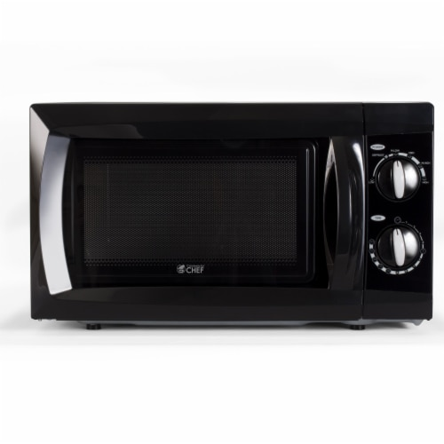 Commercial Chef Counter Top Microwave - Black Perspective: front