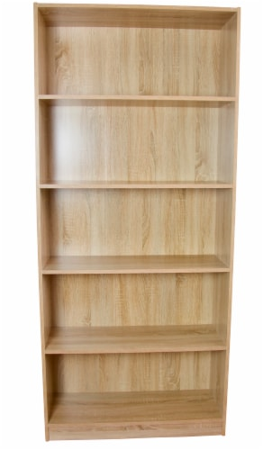 Slide Logic 6 Tier Bookcase - Tan Perspective: front