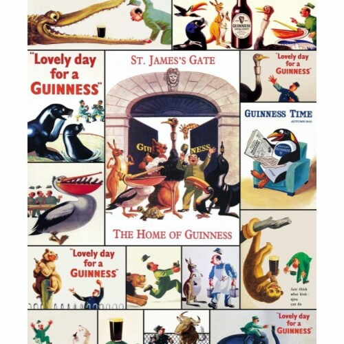 Guinness 808452 Guinness Beer Vintage Posters Puzzle - 1000 Piece Perspective: front