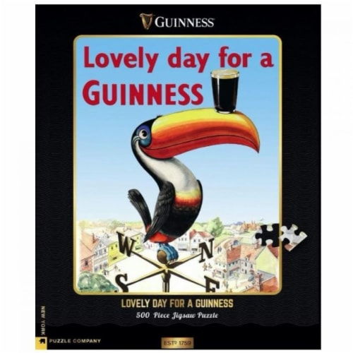 Guinness 809605 Lovely Day for Guinness Toucan Jigsaw Puzzle - 500 Piece Perspective: front