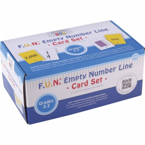 Learning Advantage 1540201 F U N Empty Number Line Card Set, Grades 2 to 3 Perspective: front