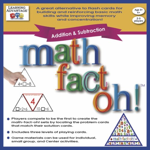 Learning Advantage 1540205 Math-Fact-Oh Addition & Subtraction Game Perspective: front