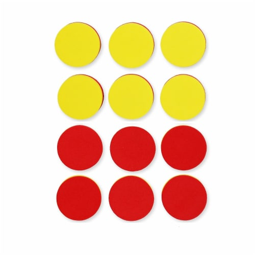 Two-Color Counters - Foam - Magnetic - Set of 200 Perspective: front