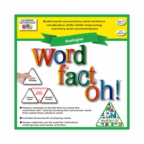 Learning Advantage CTU2191 Word Fact Oh Analogies Game Perspective: front