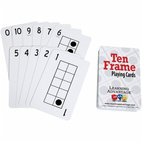 Learning Advantage CTU7293 Ten Frames Playing Cards Perspective: front