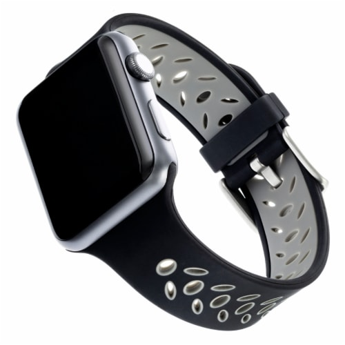 WITHit Apple Watch Sport Band - Black/Gray Perspective: front