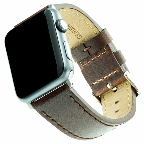 WITHit Apple Watch Leather Band - Brown Perspective: front
