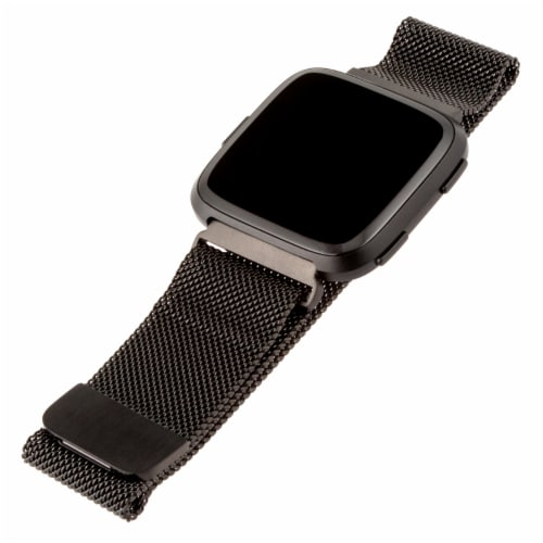 WITHit Versa Mesh Fitbit Band - Graphite Perspective: front