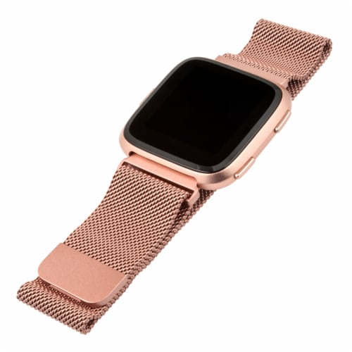 WITHit Versa Mesh Fitbit Band - Rose Gold Perspective: front