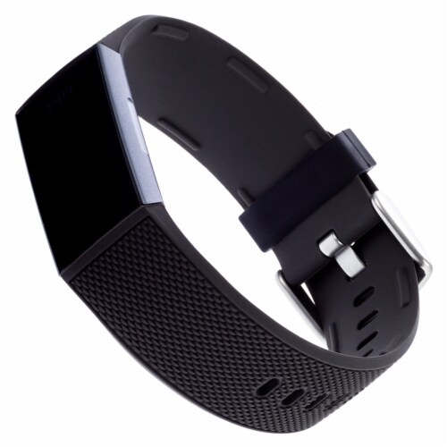 WITHit Fitbit Charge 3/4 Woven Band - Black Perspective: front