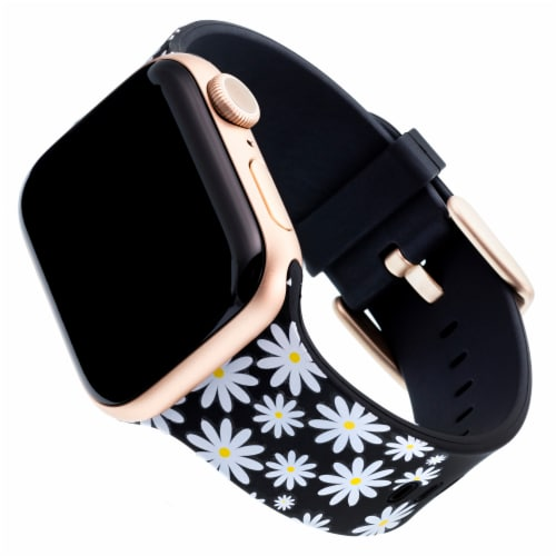 WITHit Apple Watch Silicone Daisy Darling Band Perspective: front
