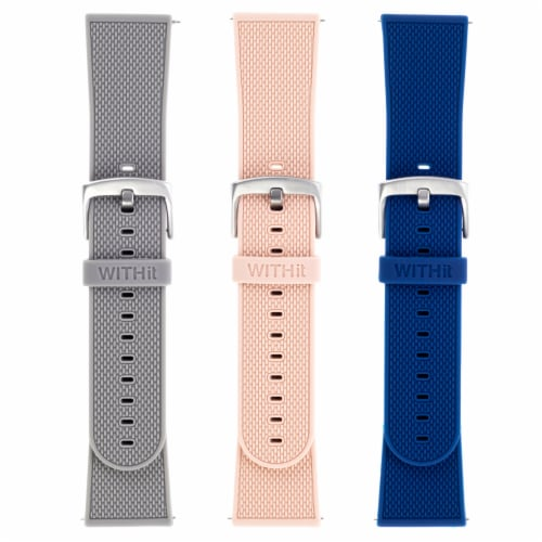 WITHit Fitbit Versa 3/Sense Silicone Bands - Assorted Perspective: front