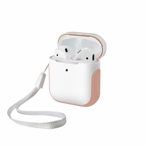 WITHit Airpod Sport Case - White/Pink Perspective: front