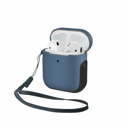 WITHit Airpod Sport Case - Blue/Black Perspective: front