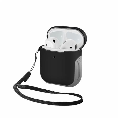 WITHit Airpod Sport Case - Black/Gray Perspective: front