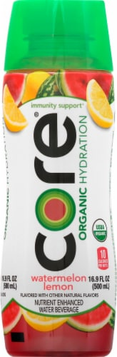 Core Organic Watermelon Lemon Enhanced Beverage Perspective: front