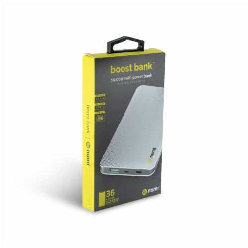 Numi Boost Box Portable Power Bank - 10,000 mAH Perspective: front
