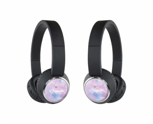 Origaudio BeeBop Headphones - Purple Paint Perspective: front
