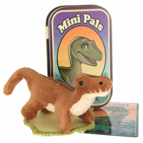 Giftable World T12-RAPPER Mini Pals Velociraptor Tin Perspective: front