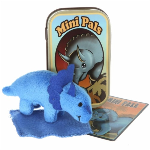 Giftable World T13-TTOP Mini Pals Triceratops Tin Perspective: front