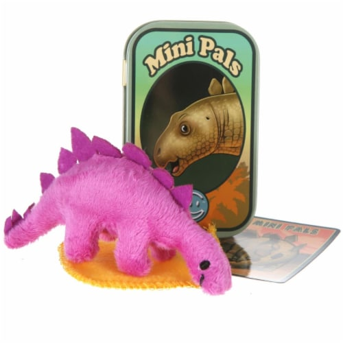 Giftable World T14-SPIKE Mini Pals Stegosaurus Tin Perspective: front