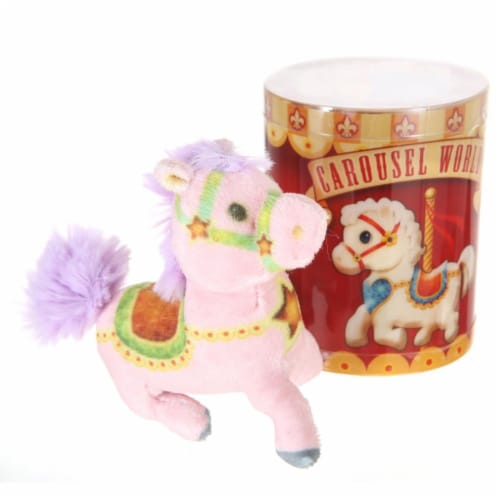 Giftable World CW01 Plush Carousel Horse - Assorted Color Perspective: front
