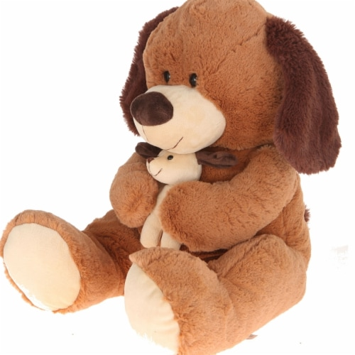 Giftable World A02007 16 in. Plush Dog with Baby Perspective: front
