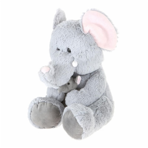 Giftable World A08005 16 in. Plush Elephant with Babay Perspective: front