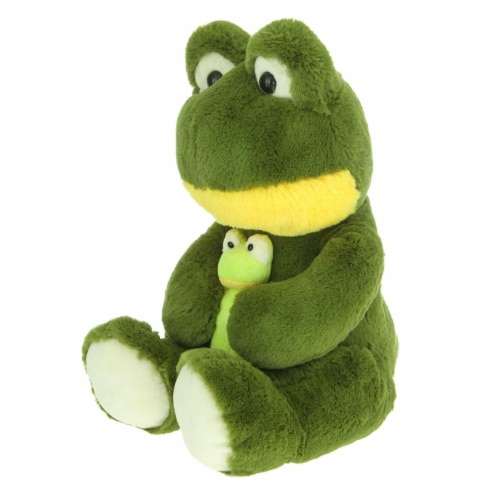 Giftable World A08006 16 in. Plush Frog with Baby Perspective: front