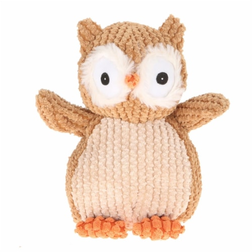 Giftable World A08046 9 in. Nice N Knitted Owl - Brown Perspective: front