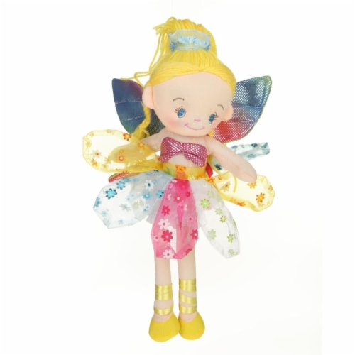 Giftable World MM07 12 in. Plush Haired Blond Fairy Doll Perspective: front