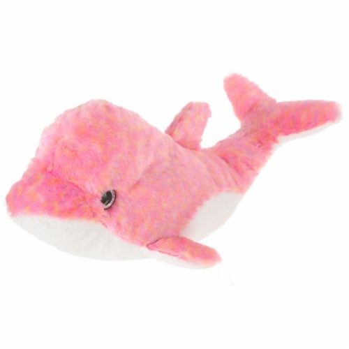Giftable World A15107 14 in. Plush Tie Dye Dolphin - Pink Perspective: front