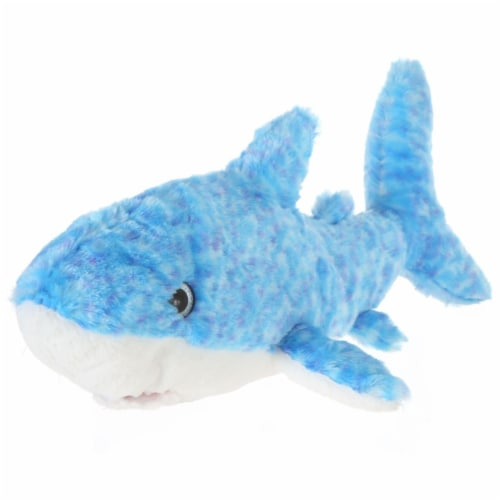Giftable World A15108 14 in. Plush Tie Dye Shark - Blue Perspective: front