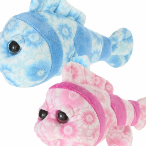 Giftable World A15098 8.5 in. Clown Fish - Pink & Blue Perspective: front