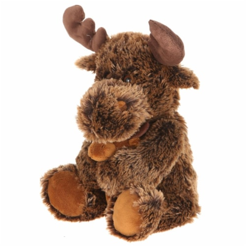 Giftable World A05026 14 in. Plush Shaggy Moose with Baby Perspective: front
