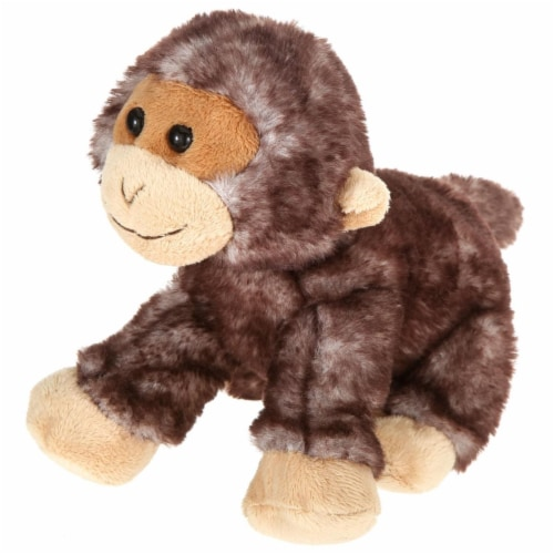 Giftable World A00049 7 in. Plush Lying Monkey Perspective: front