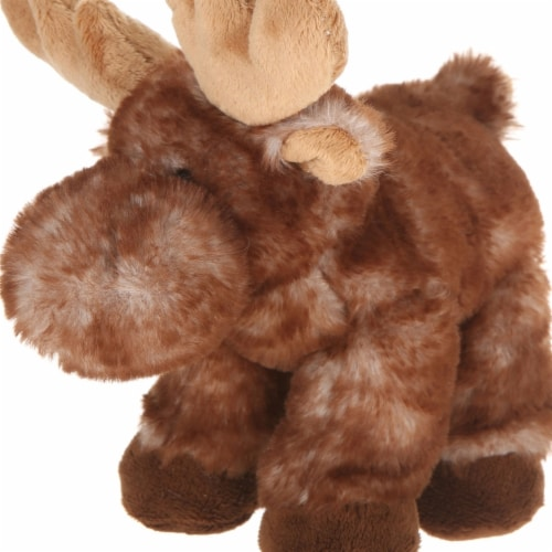 Giftable World A00045 7 in. Plush Lying Moose Perspective: front