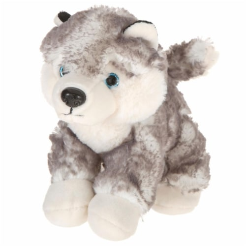 Giftable World A00048 7 in. Plush Lying Husky Perspective: front