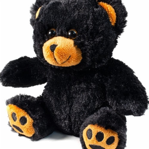 Giftable World B01014 10 in. Plush Train Conductor Bear - Black Perspective: front