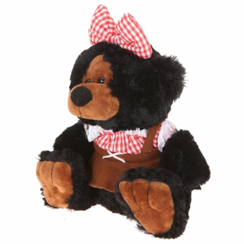 Giftable World B01016 10 in. Plush Hill Billy Girl Bear - Black Perspective: front
