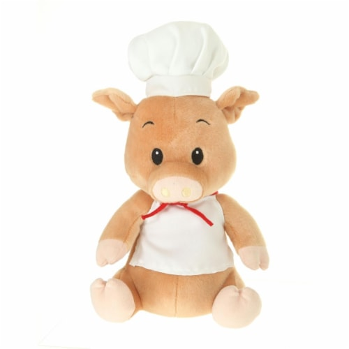 Giftable World A00036 10 in. Plush Pig Cook Perspective: front